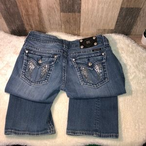 Miss Me Jeans - Miss Me Angel Wing Boot Cut Jeans 29 x 32